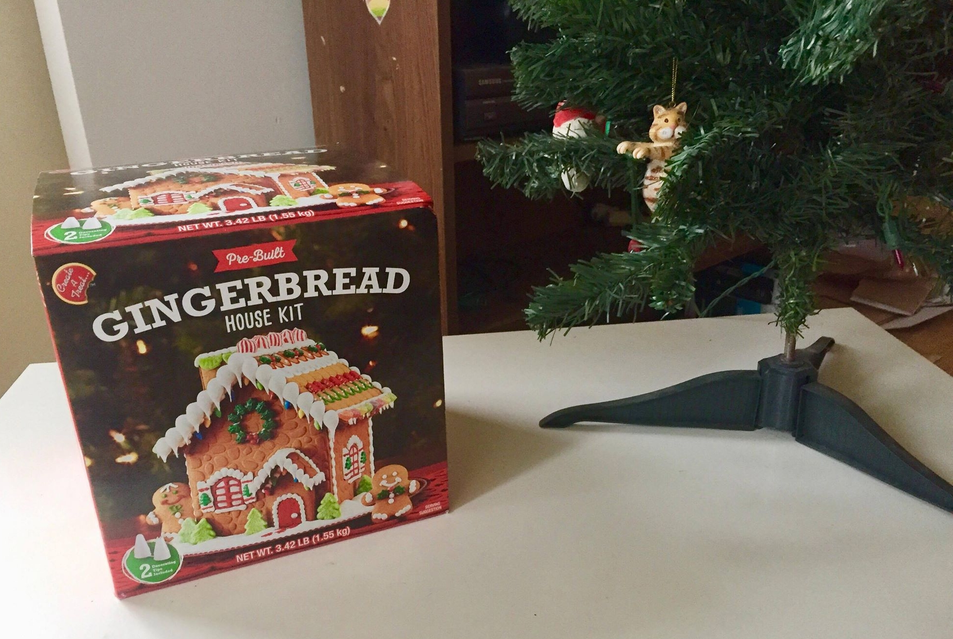 You could win this gingerbread house kit by supporting NOMAS' fundraiser for charity.
