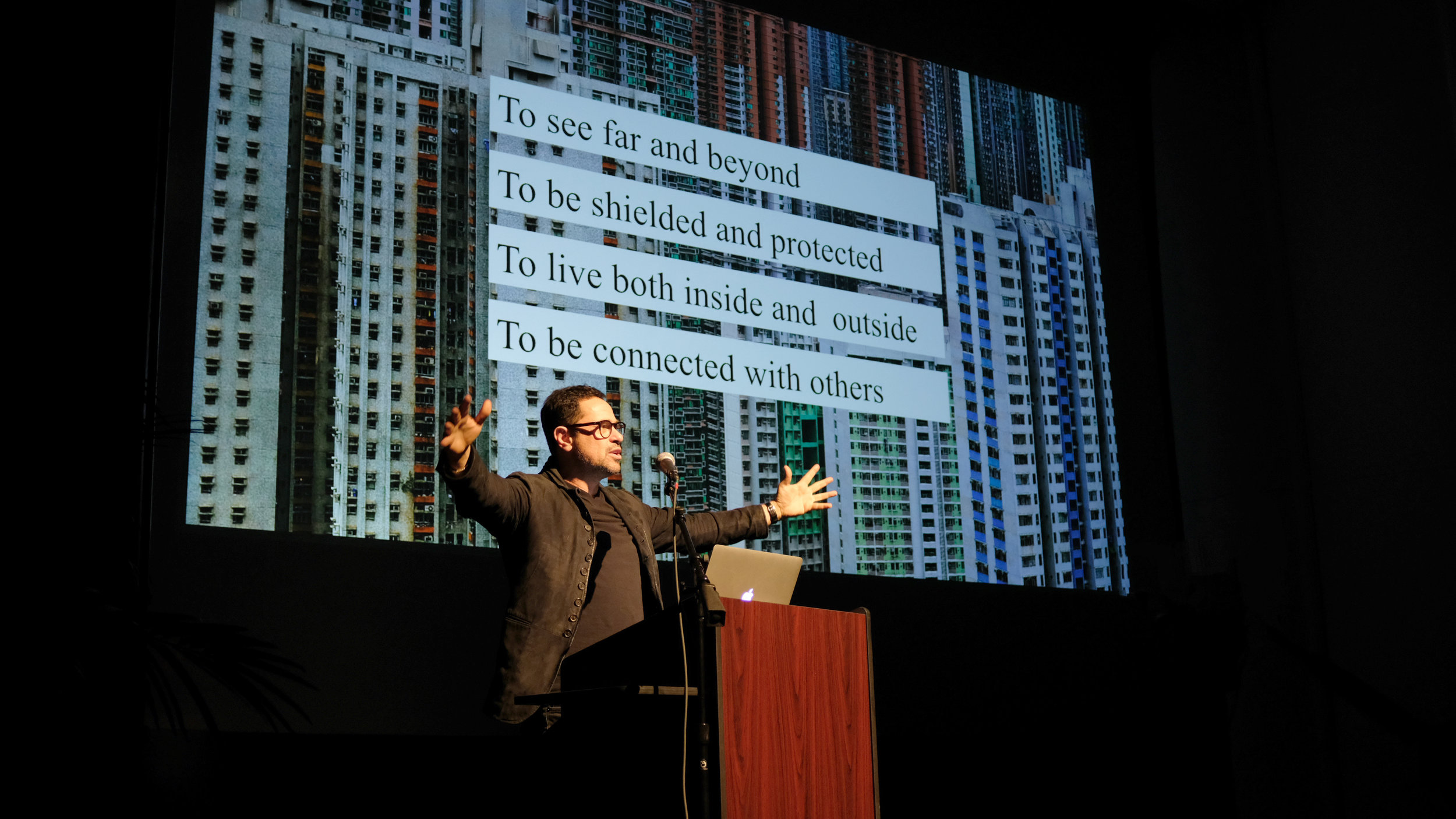 """Eran Chen, founder and executive director of ODA New York, on Monday 29 January 2018 when he visited Carnegie Mellon University School of Architecture to deliver his talk """"Unboxing New York: Living, Zoning, Developing, Marketing, Building."""""""