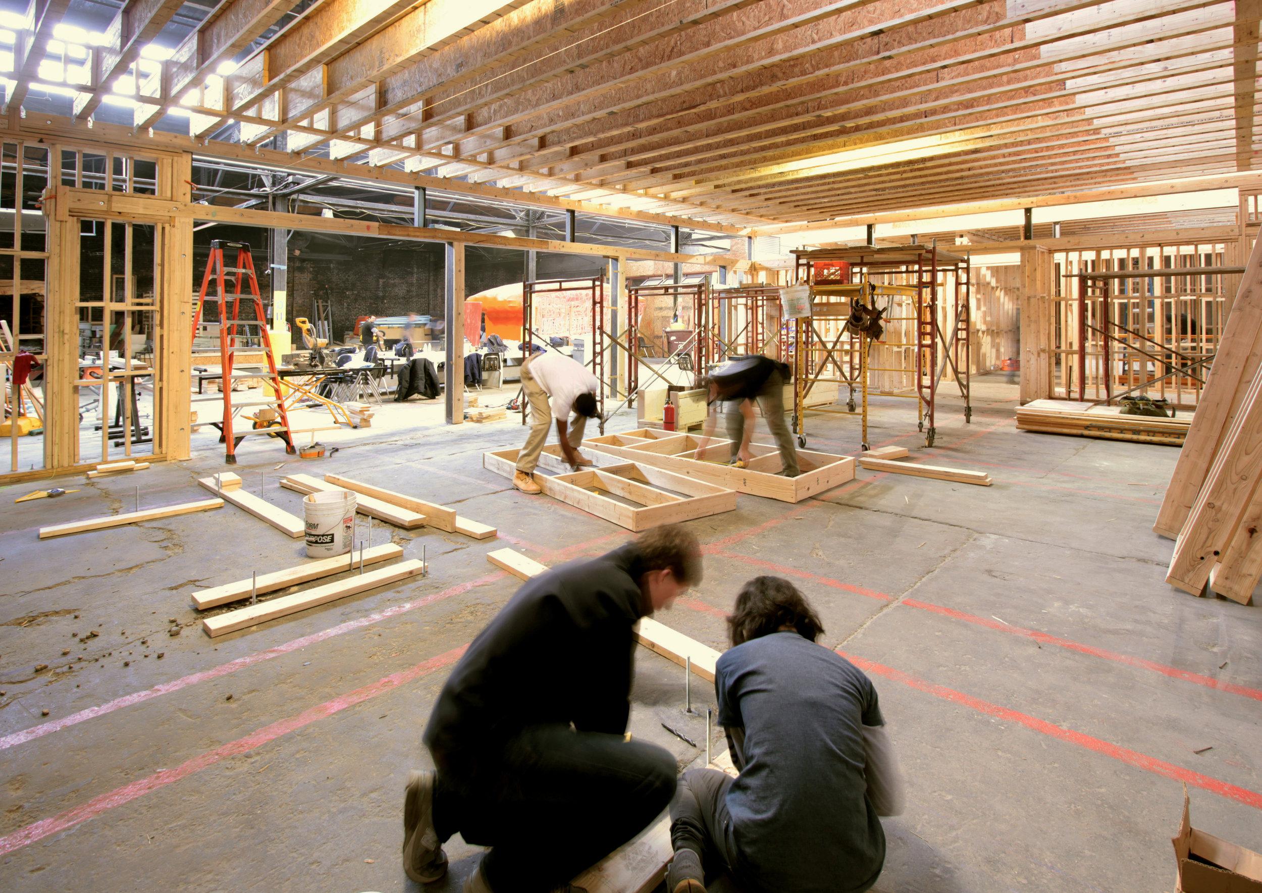 Urban Design Build Studio ( UDBS ) students work at  PROJECT_RE