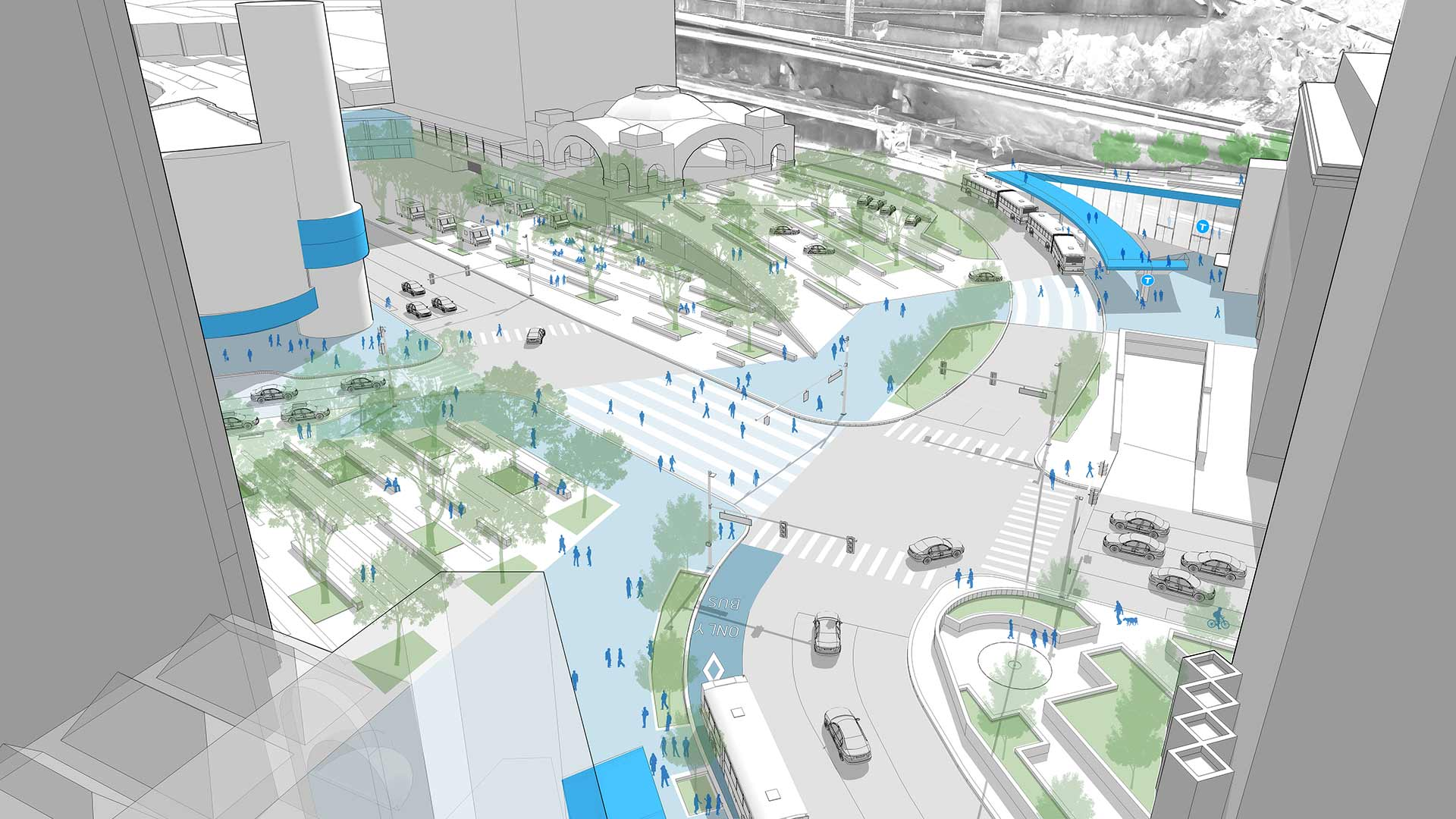 Part of PCRG's Better Busway Study in partnership with the Port Authority of Allegheny County, the plan developed by evolveEA seeks to activate a key anchor to Pittsburgh's Golden Triangle.