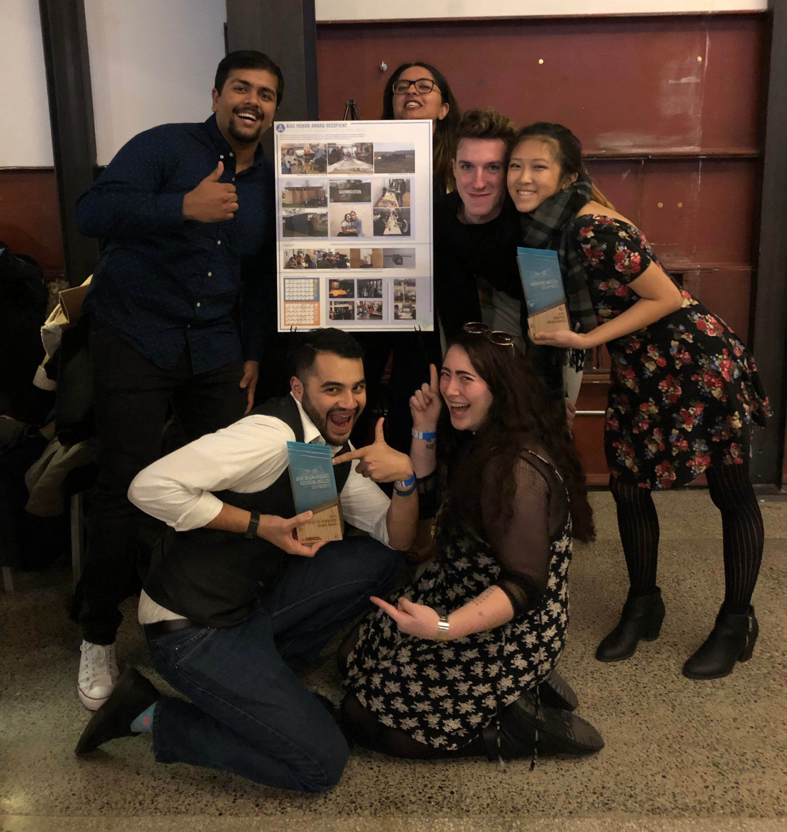 The CMU AIAS chapter won the 2018 Chapter Honor Award from the national organization of AIAS. Chapter representatives accepted the award at Forum 2018 in Seattle.