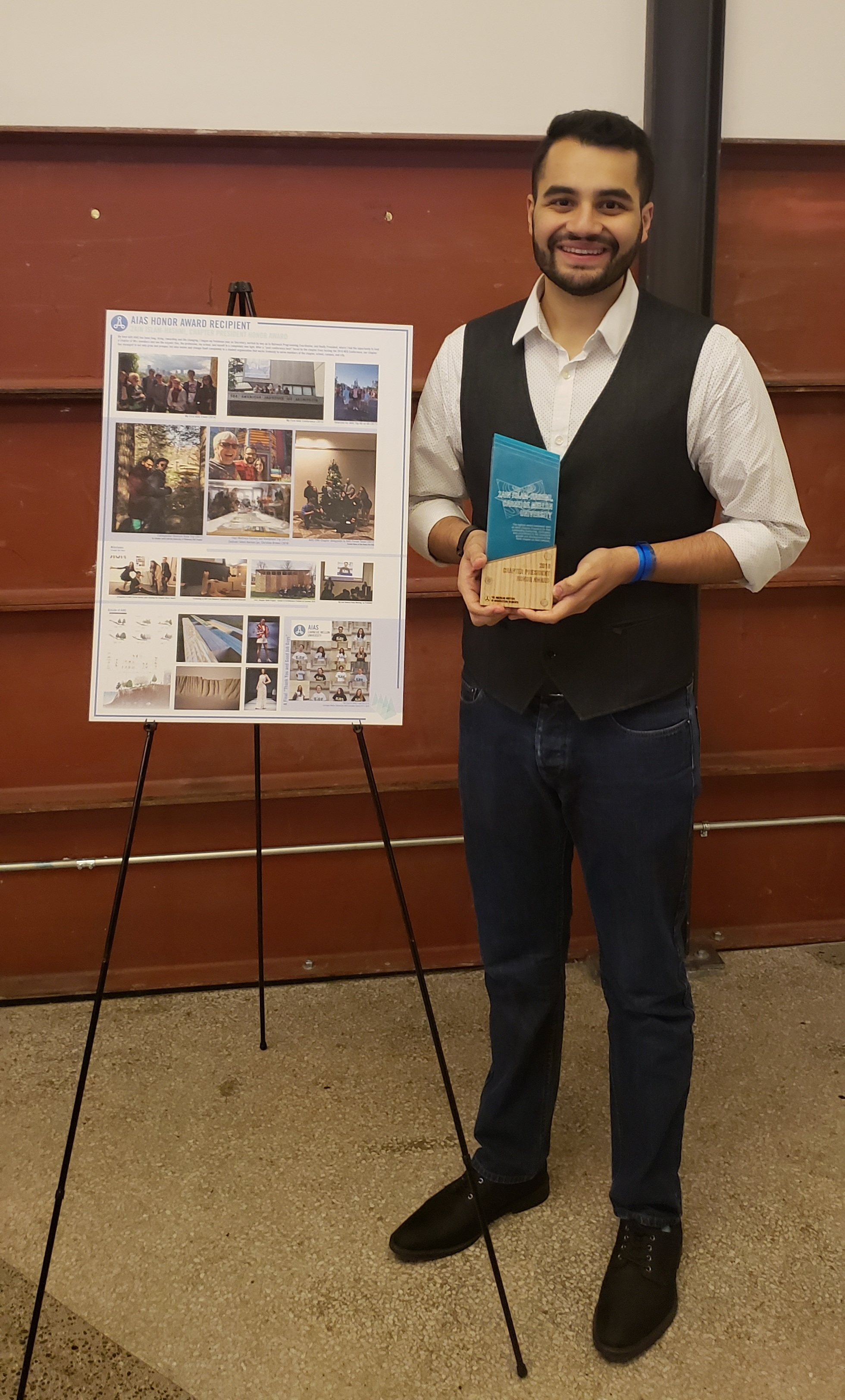 Former chapter president Zain Islam-Hashmi was named the winner of the 2018 Chapter President Honor Award at Forum 2018 in Seattle.