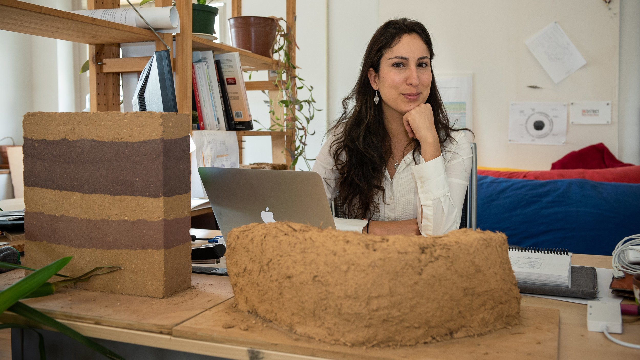 Lola Ben-Alon's research deals with the challenges of using earthen building materials, which offer sustainable alternatives to conventional materials used in construction. Image: Carnegie Mellon University