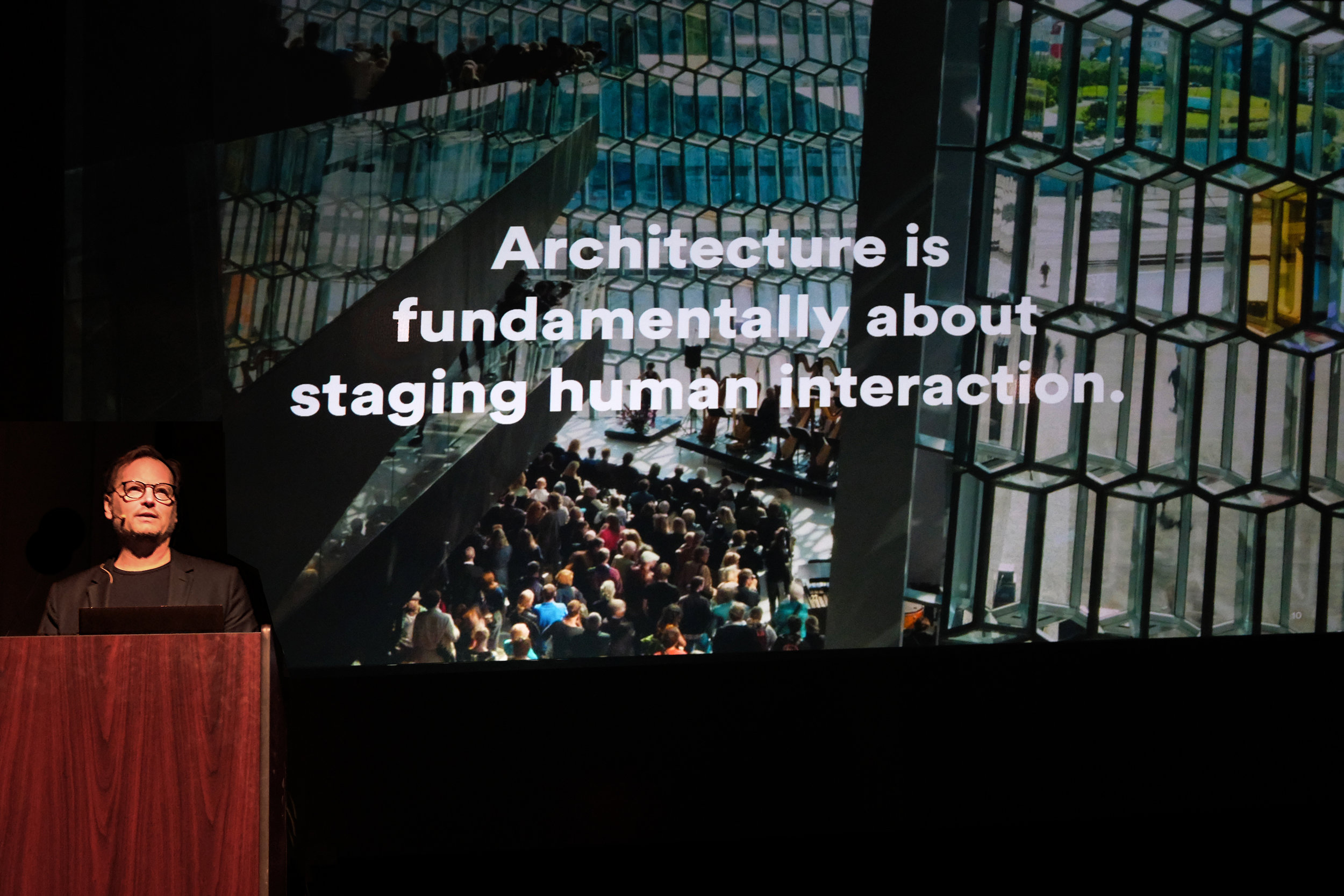 The School of Architecture welcomed Louis Becker of Henning Larsen Architecture on Monday 25 March for the 2019 Spring Lecture Series. The Copenhagen-based practice uses scientific research tools and project-based design research to create sustainable places that facilitate human interaction. Image: Michael Powell, Carnegie Mellon School of Architecture