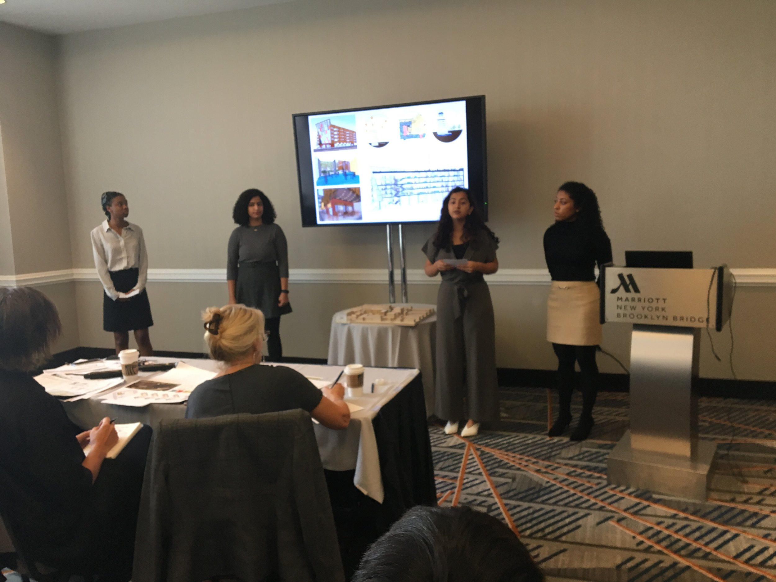 Carnegie Mellon School of Architecture NOMAS students present their work in the 2019 Barbara G. Laurie Student Design Competition.