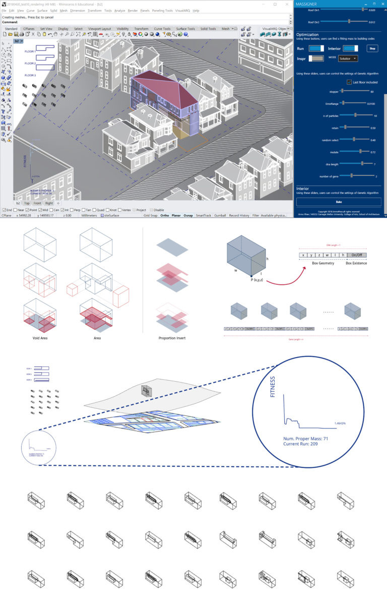 A generative system for architectural design. Image credit: Jinmo Rhee.