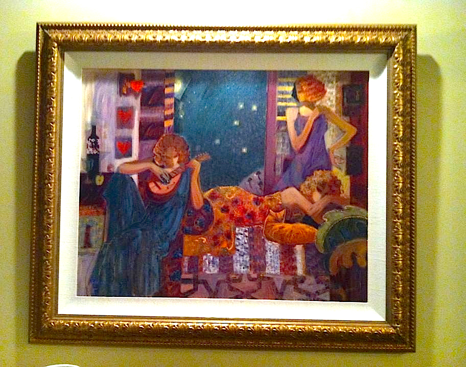 PHOTO CREDIT: CARTER HOUSE - PAINTING BY SABZI - Anticipation