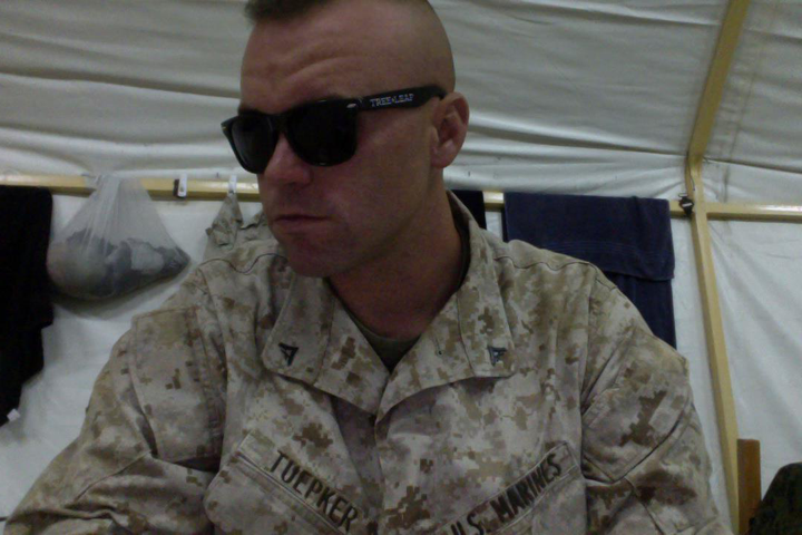 Kyle Tuepker  is a badass Marine in Kuwait! Making those shades look downright tough. Thanks for your service Kyle, and thanks for the photo!