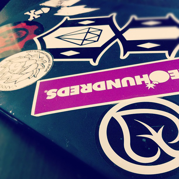 Levi Bouska  also showed us some Instagram love, and put our stickers alongside some of the beasts in the tshirt industry! Thank you!