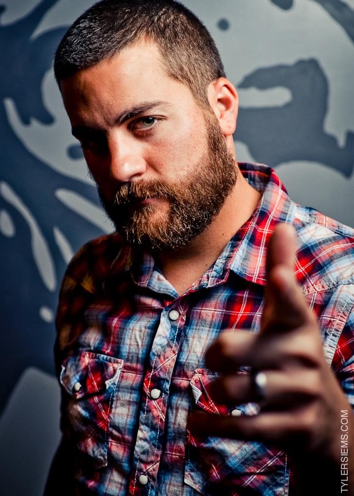 Last years Fullest Beard winner, Kenneth White.