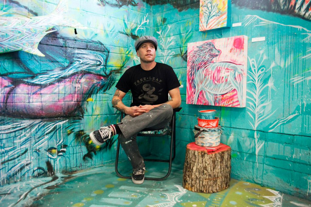 Jason Pawley in his studio, Tallhill Creative ( photo credit : Ethan Hickerson @ethandoesthings)