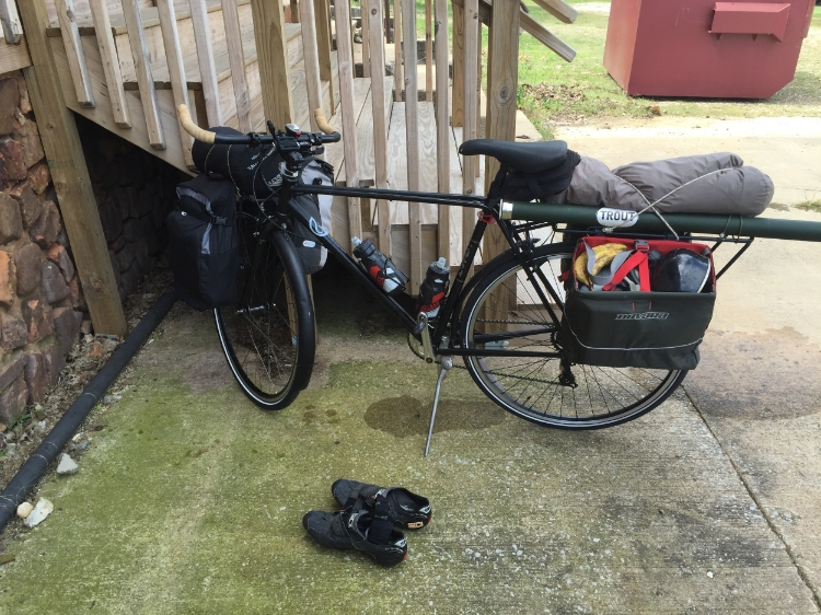 McKinney's  Trek Earle  loaded with approximately 50 pounds of gear.