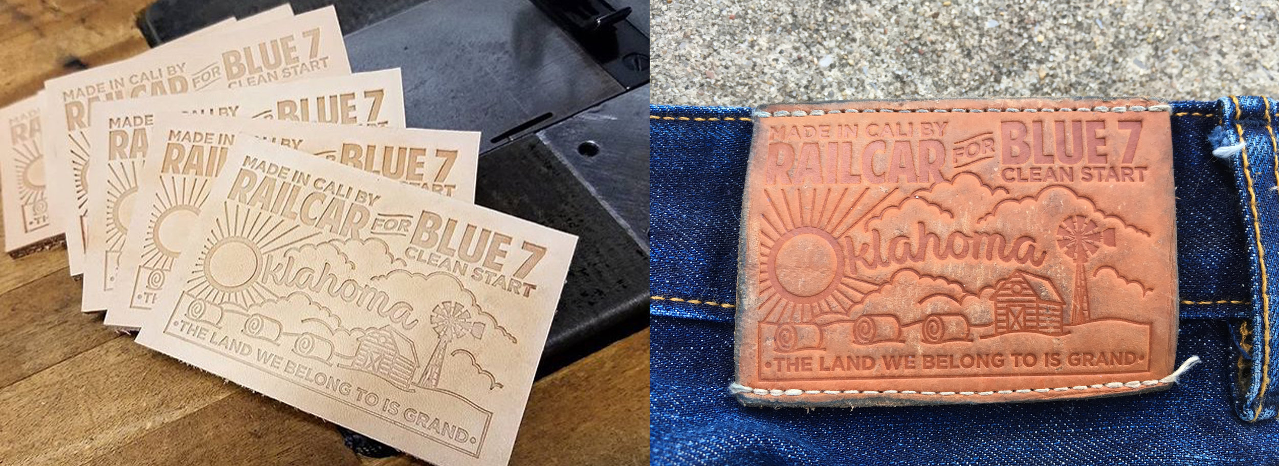 I'm very lucky to have been asked to help design the patch for this year's limited  Clean Start  jeans. Here's what they looked like right after being pressed, and what mine looked like after getting worn in.