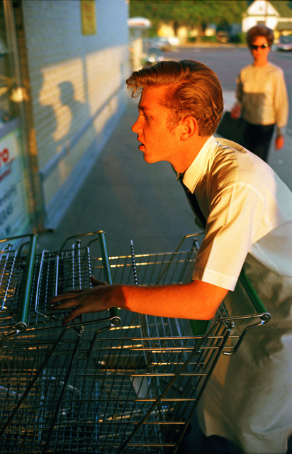 Untitled [Supermarket boy with carts], Memphis , 1965. From the series  Los Alamos Folio 1.  Found on  Artsy .