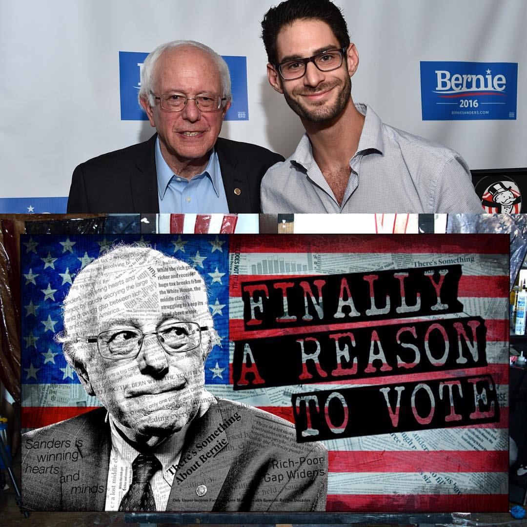 Greg Auerbach with Senator Bernie Sanders, 2015
