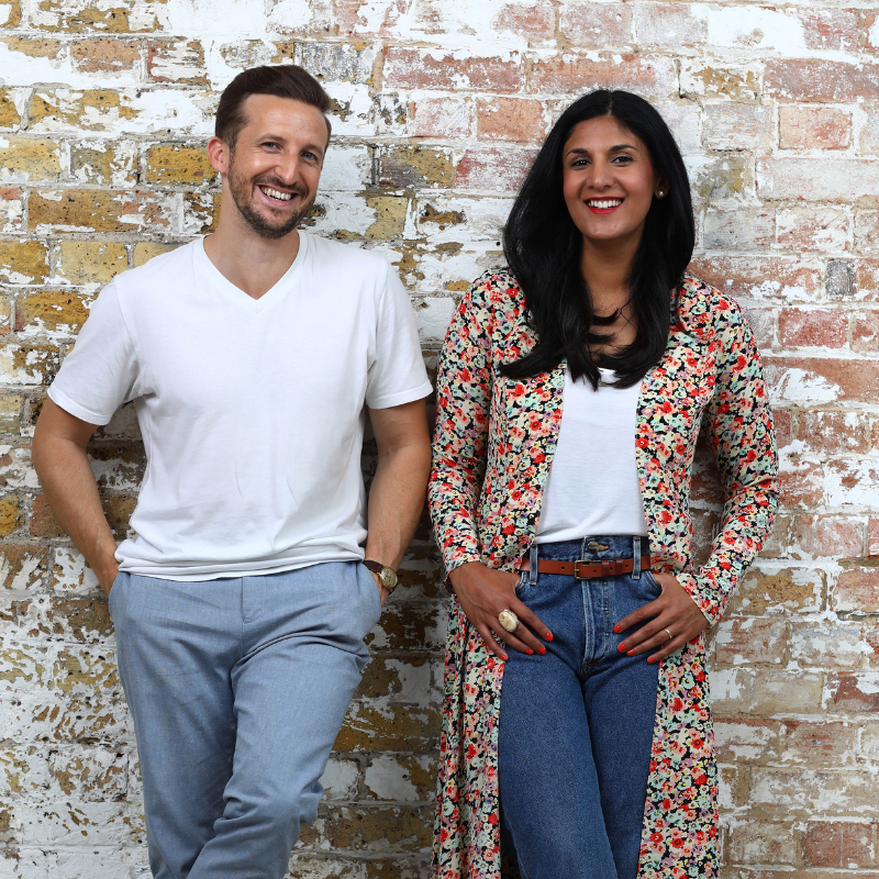 Radha Vyas and Lee Thompson, co-founder of Flash Pack