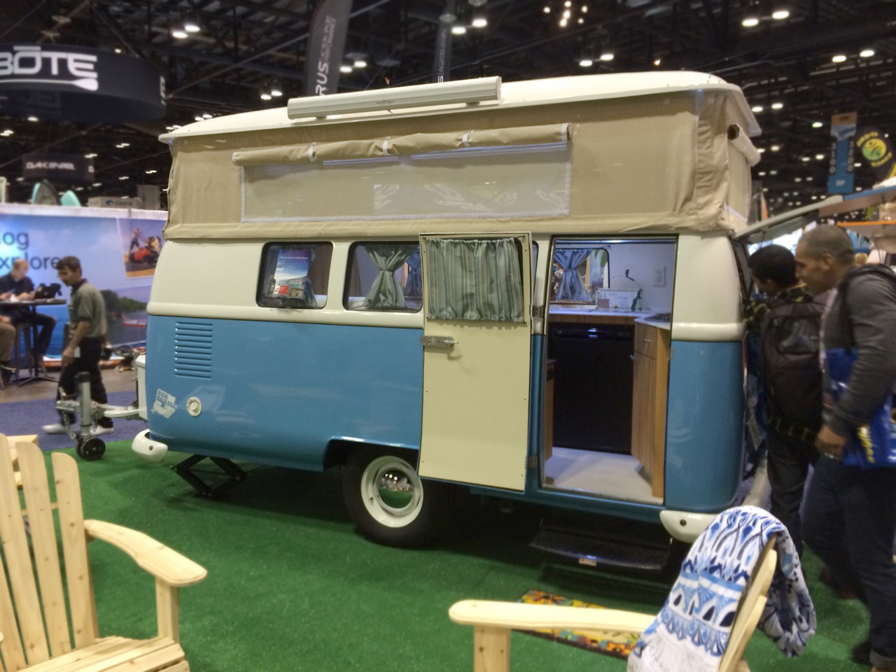Fun, but not cheap Popup Camper reproductions, based on VW buses