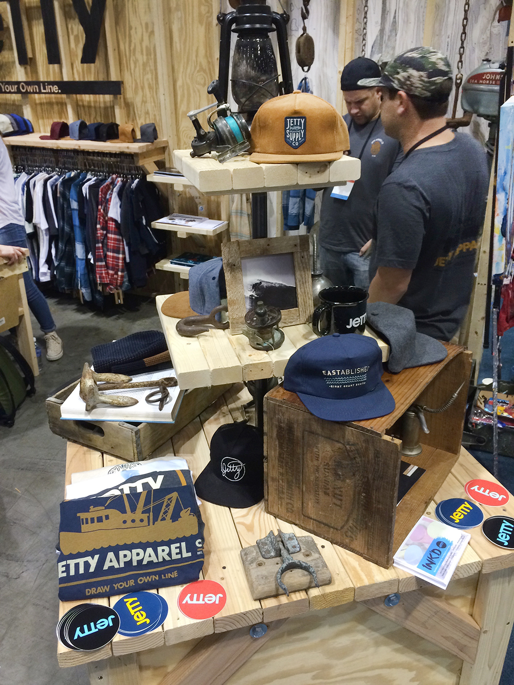 Our friends at Jetty always rocking a nice hand crafted booth.