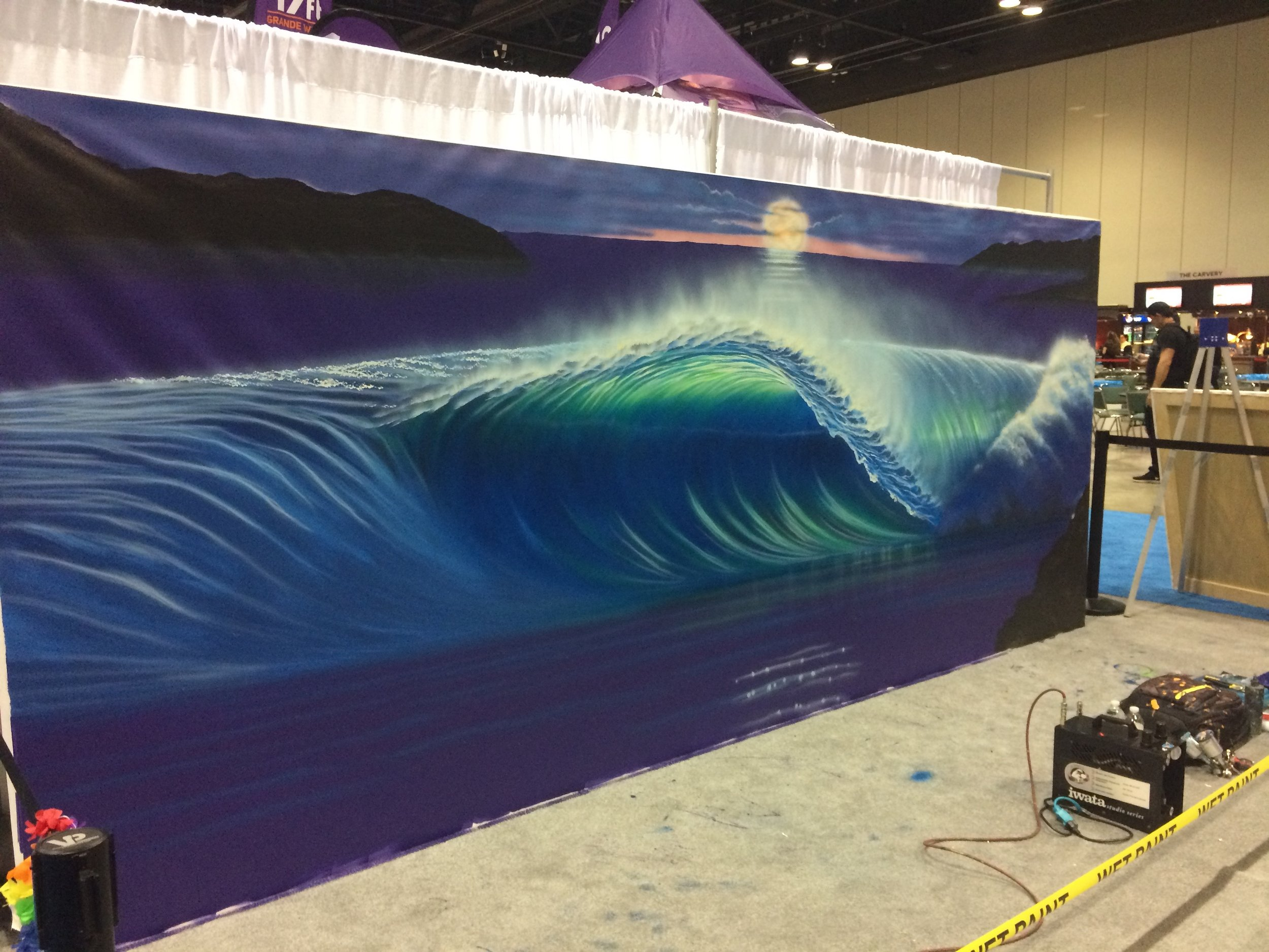 Surf art in progress