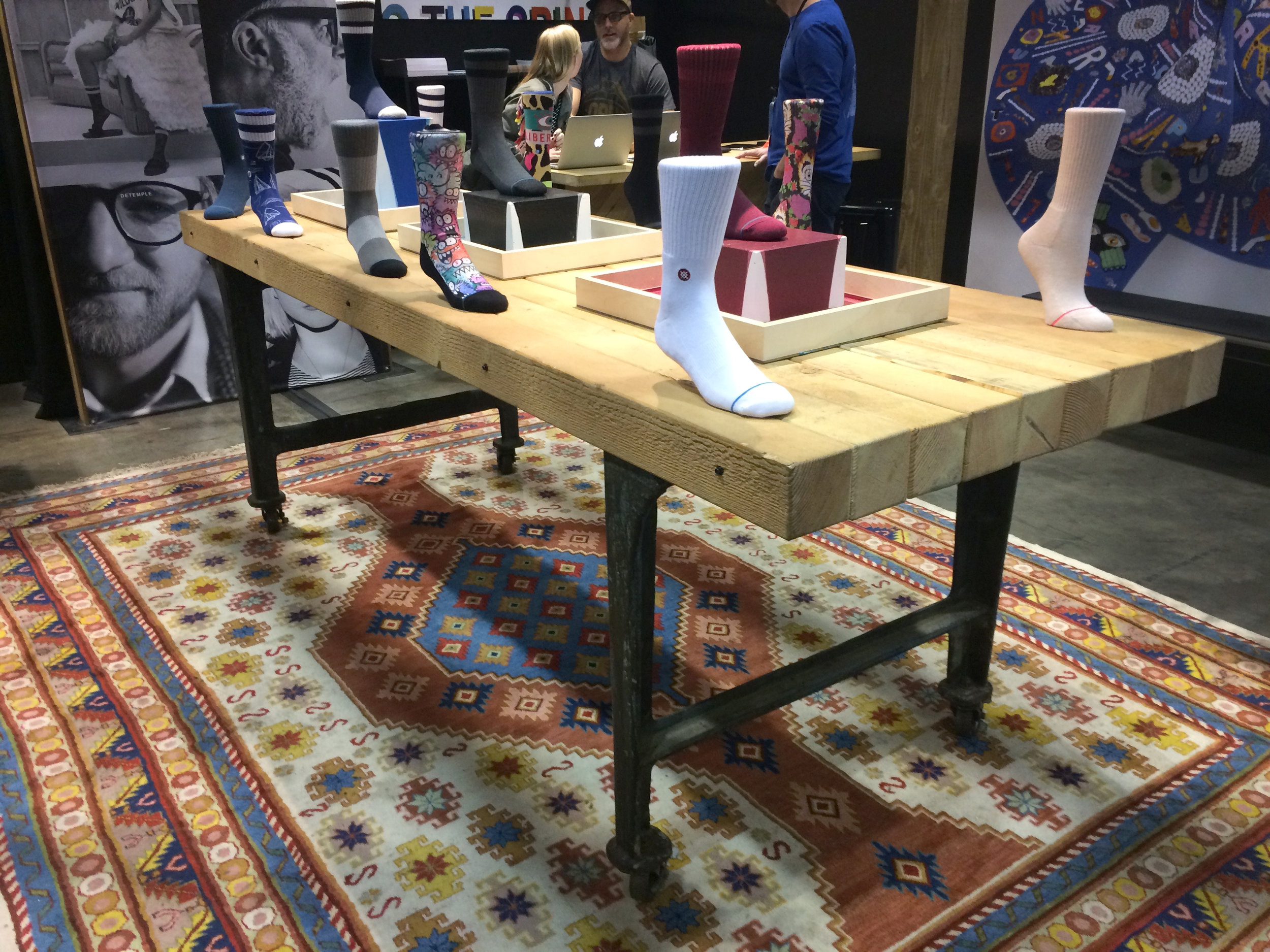 Cool industrial table for Stance.