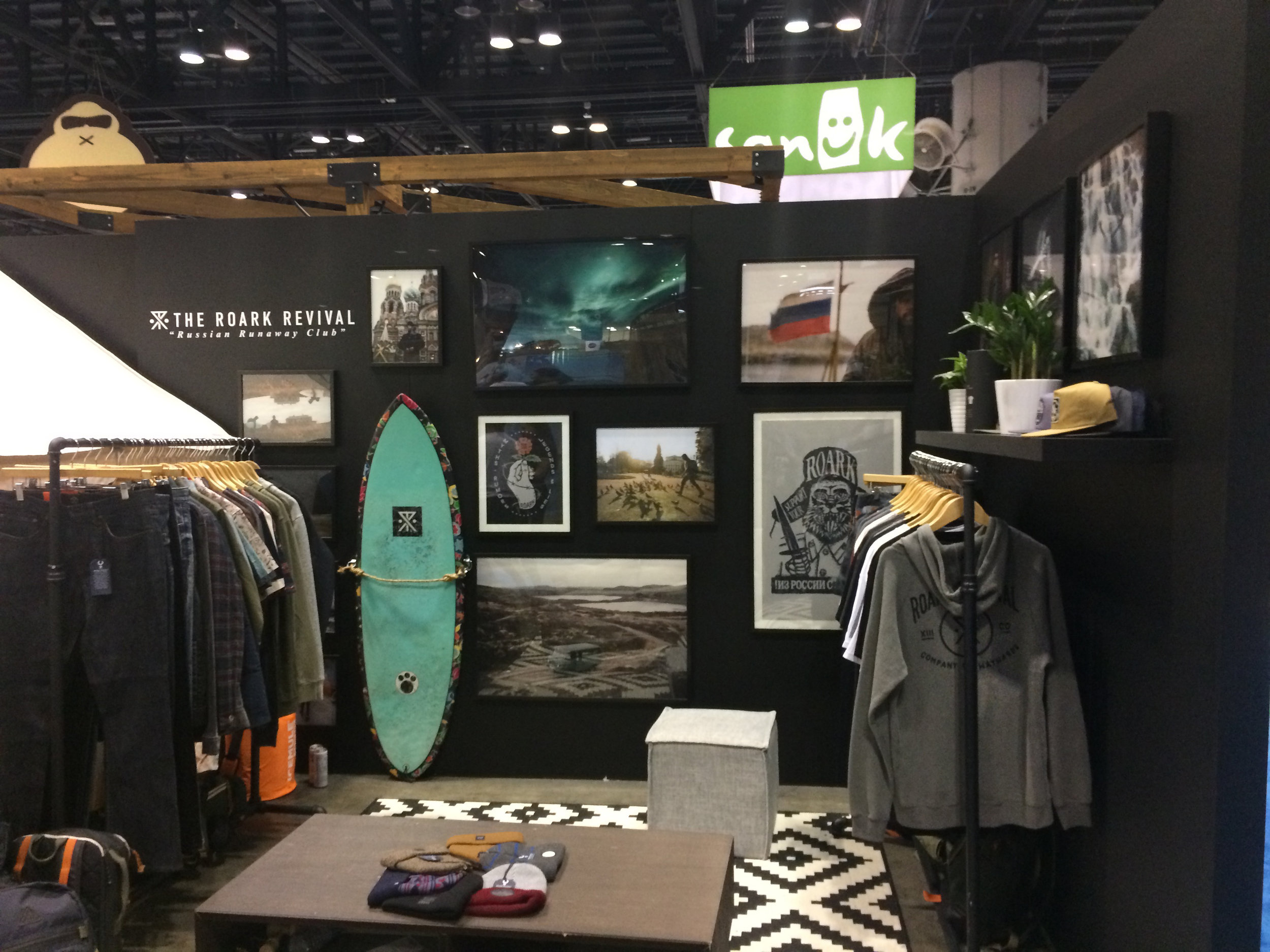 Roark's booth featured images and vibes from their recent trip through Russia.