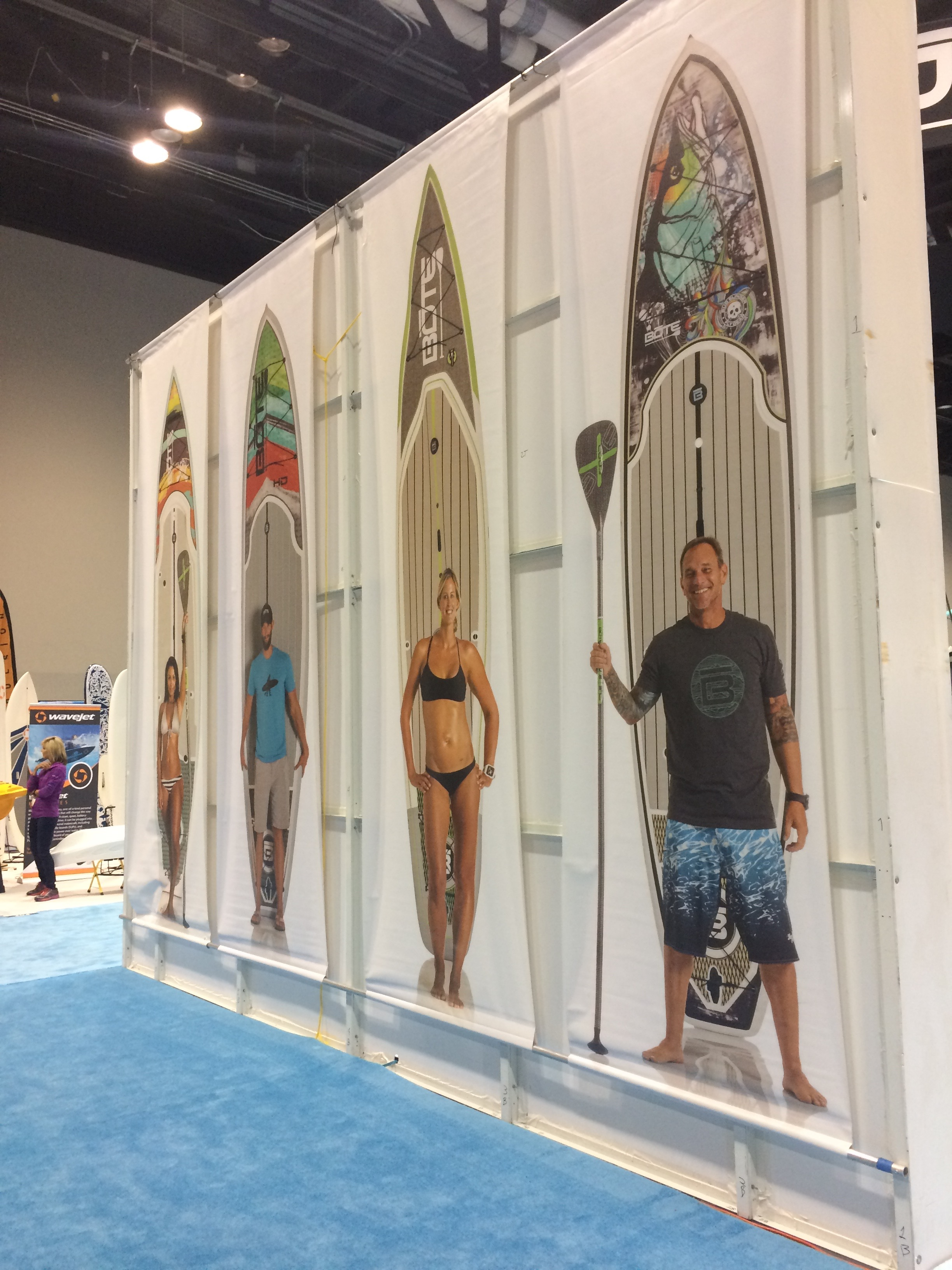 """Boat always """"Stands Apart""""from the other SUP brands with a larger than life booth and cool displays and details."""