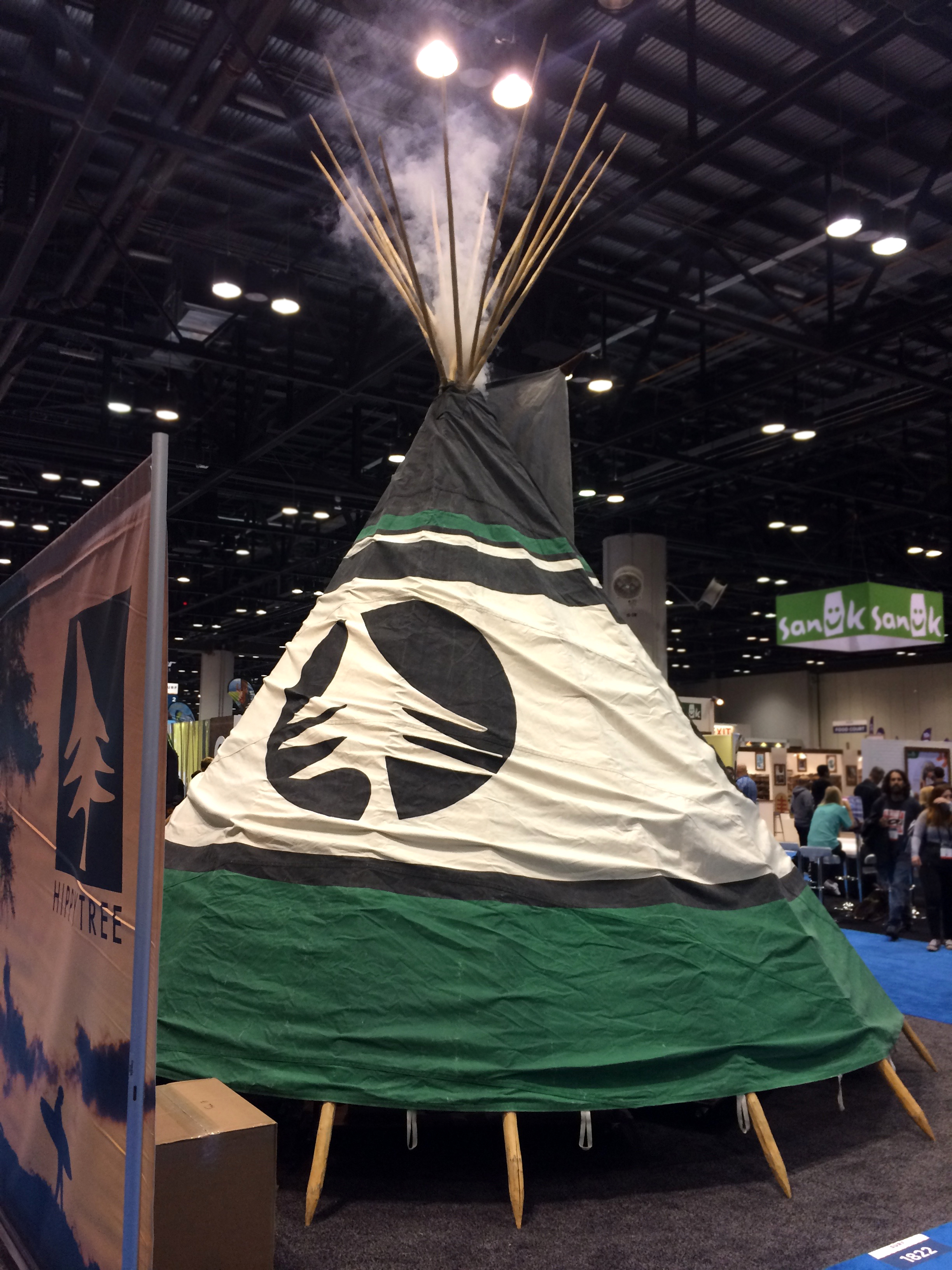 The Hippy Tree booth featured a giant teepee