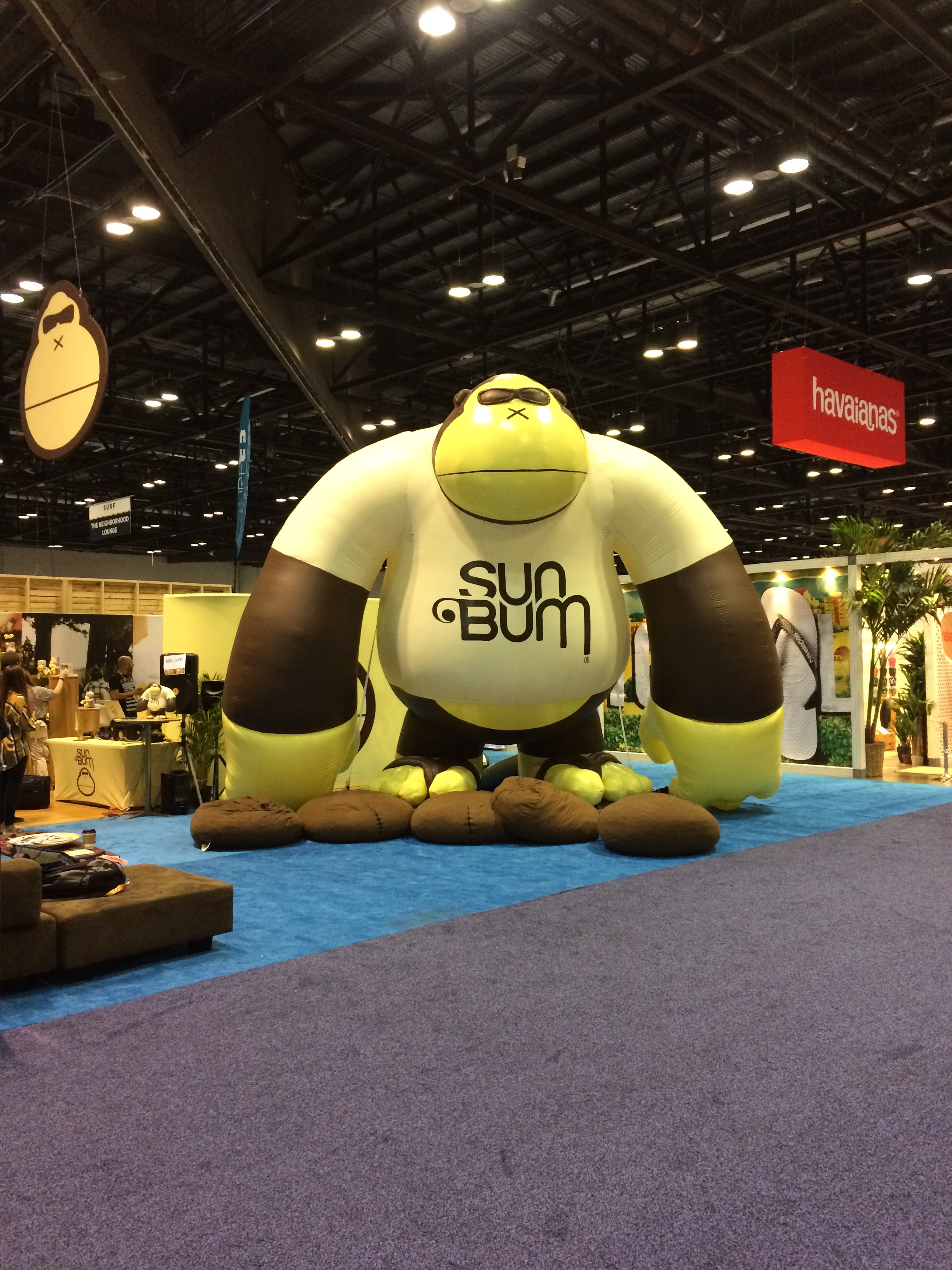 Giant inflatable Ape for Sun Bum