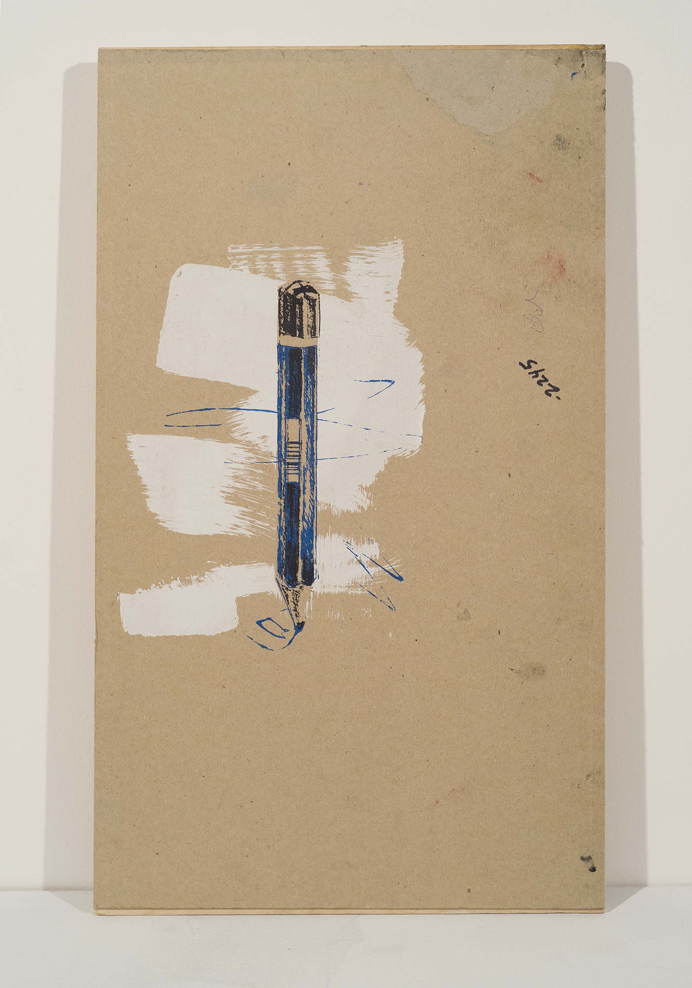 """pencil, silkscreen on chipboard mounted to plywood, 15""""x22"""""""