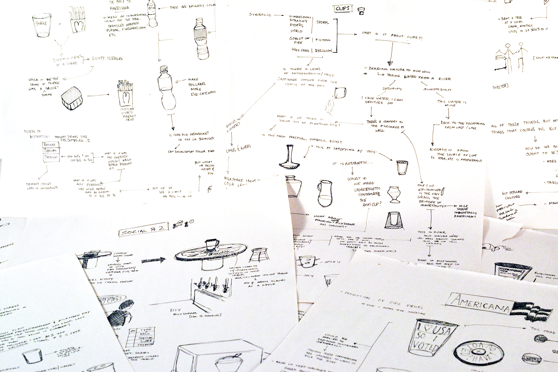 As part of the ideation process, we were asked to come up with 100 redesigns of the object that we threw out.
