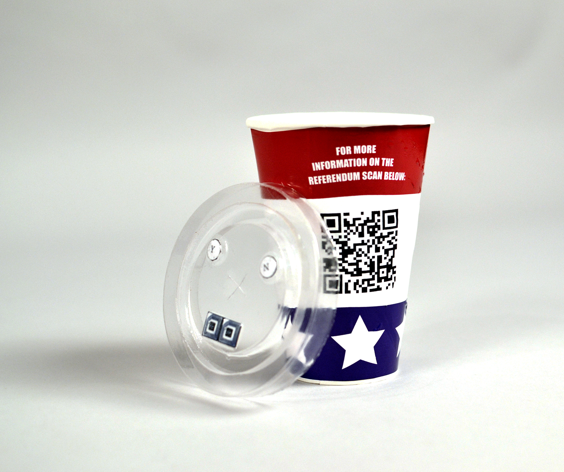 A second prototype that relied on QR codes to educate people about issues.