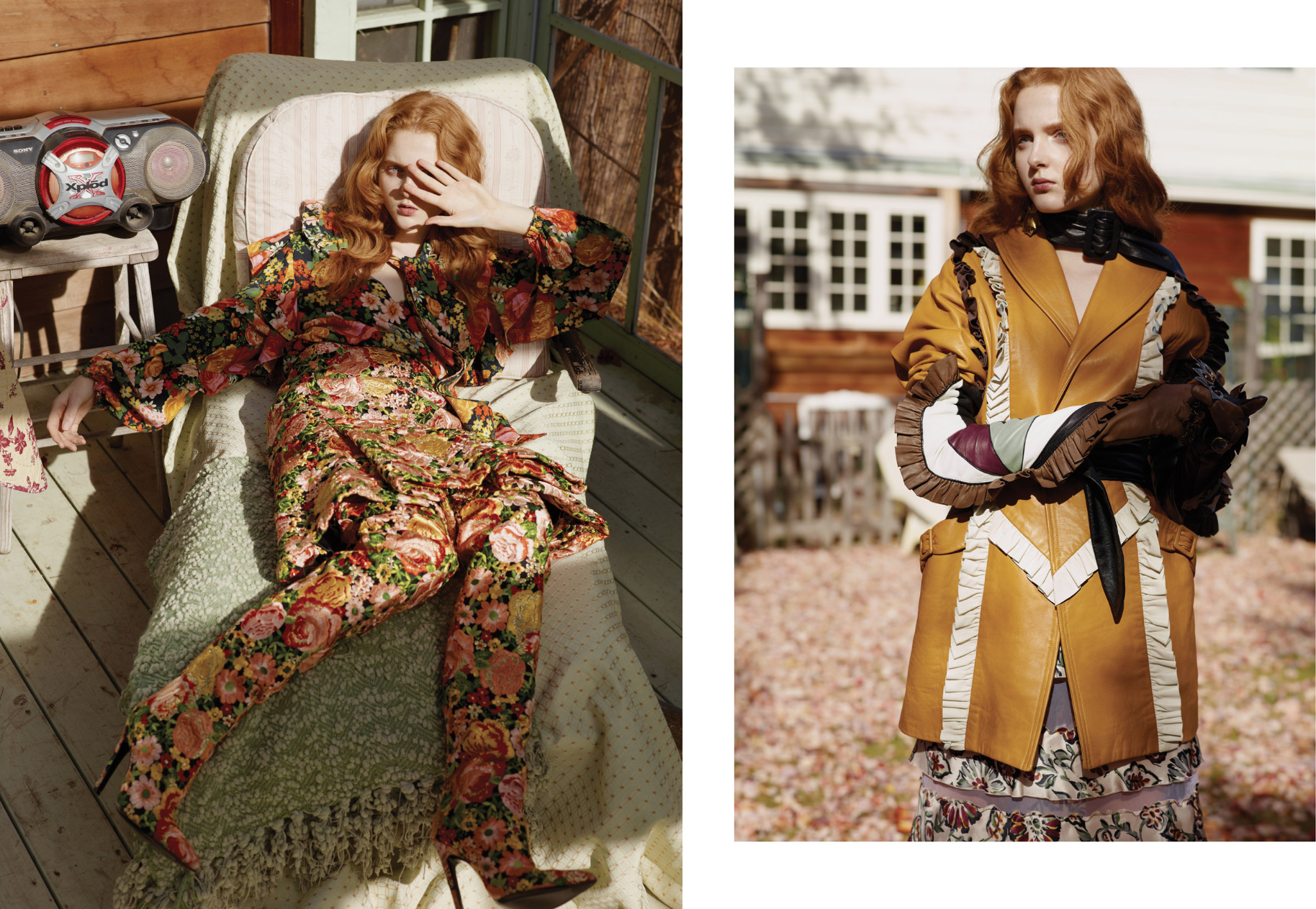 Madison Stubbington is wearing: On the left:  Everything Balenciaga . On the right:  Everything Rodarte.