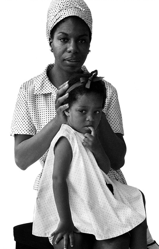 Nina Simone & Daughter, 1965. Photography by Brian Duffy.