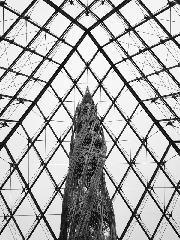 At the Louvre. Paris, 2013.