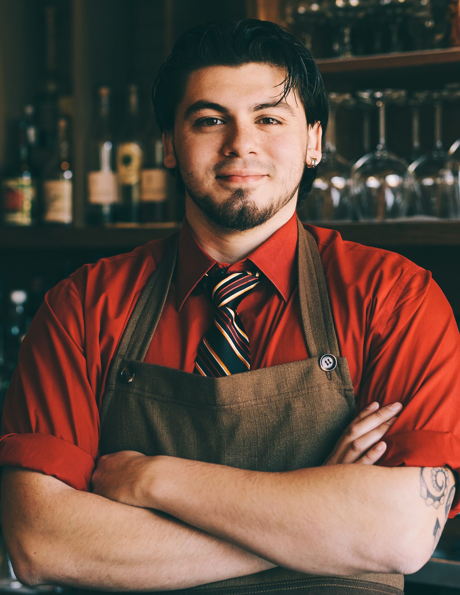 Bartender photographed by Adam DeTour