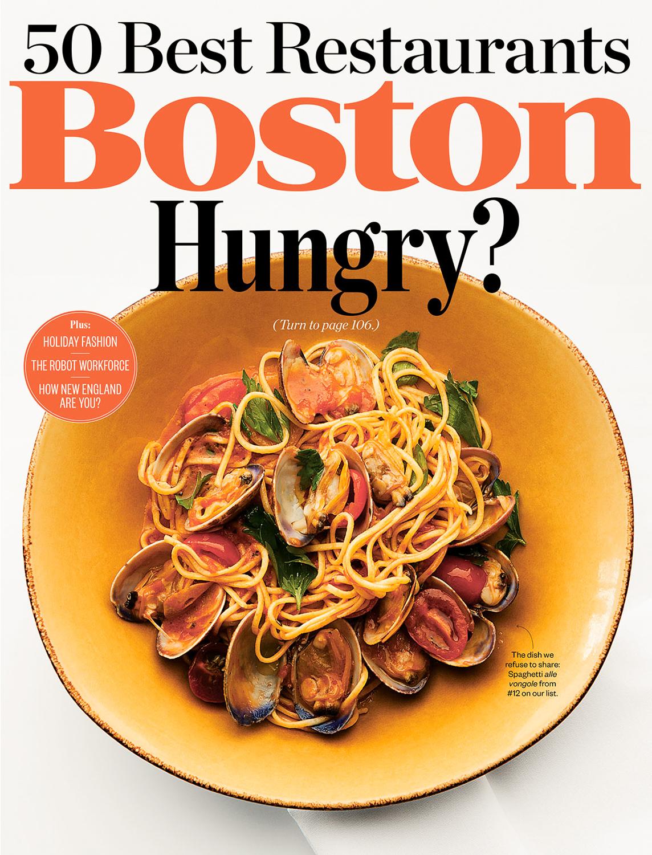 Boston Magazine Cover photographed by Adam DeTour
