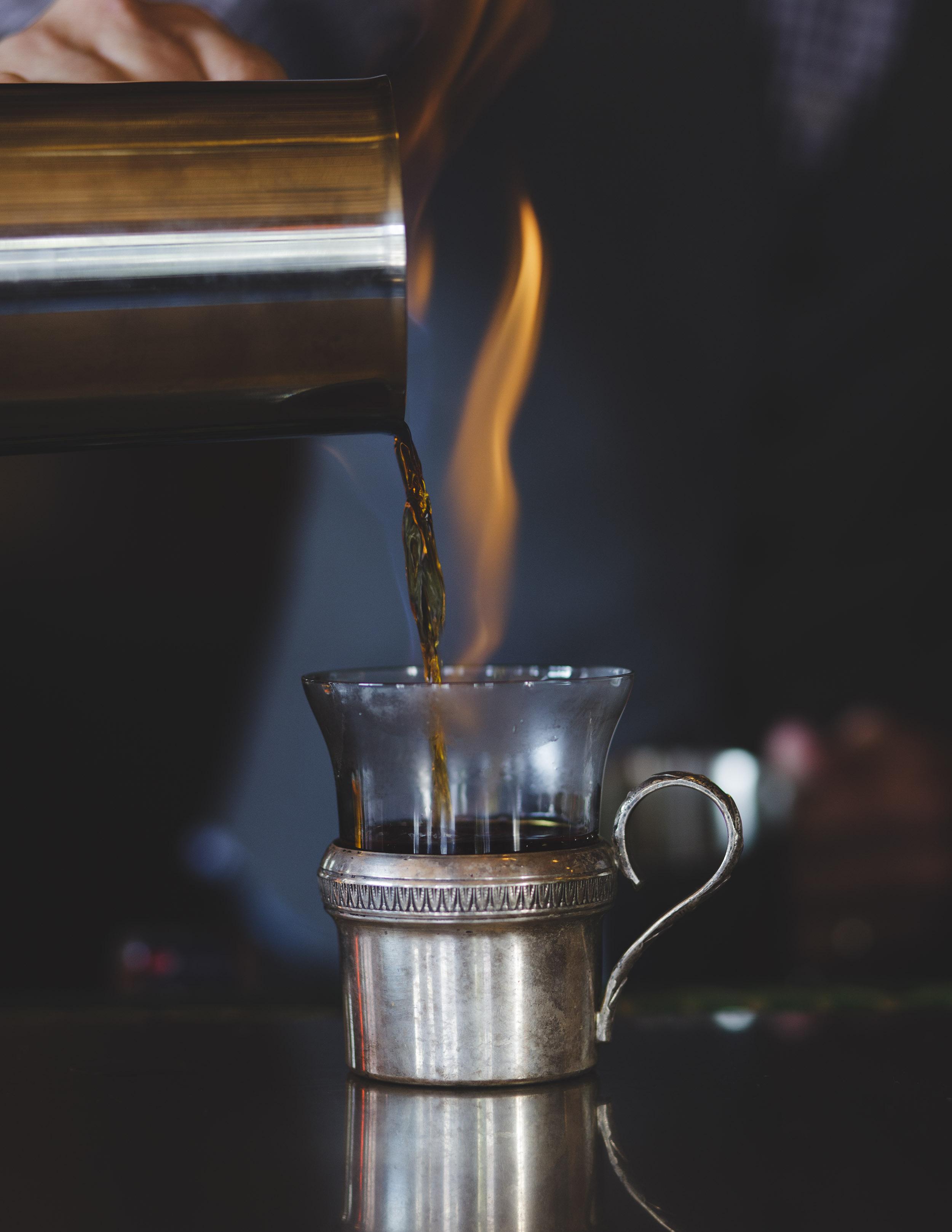 Flaming Cocktail by Adam DeTour