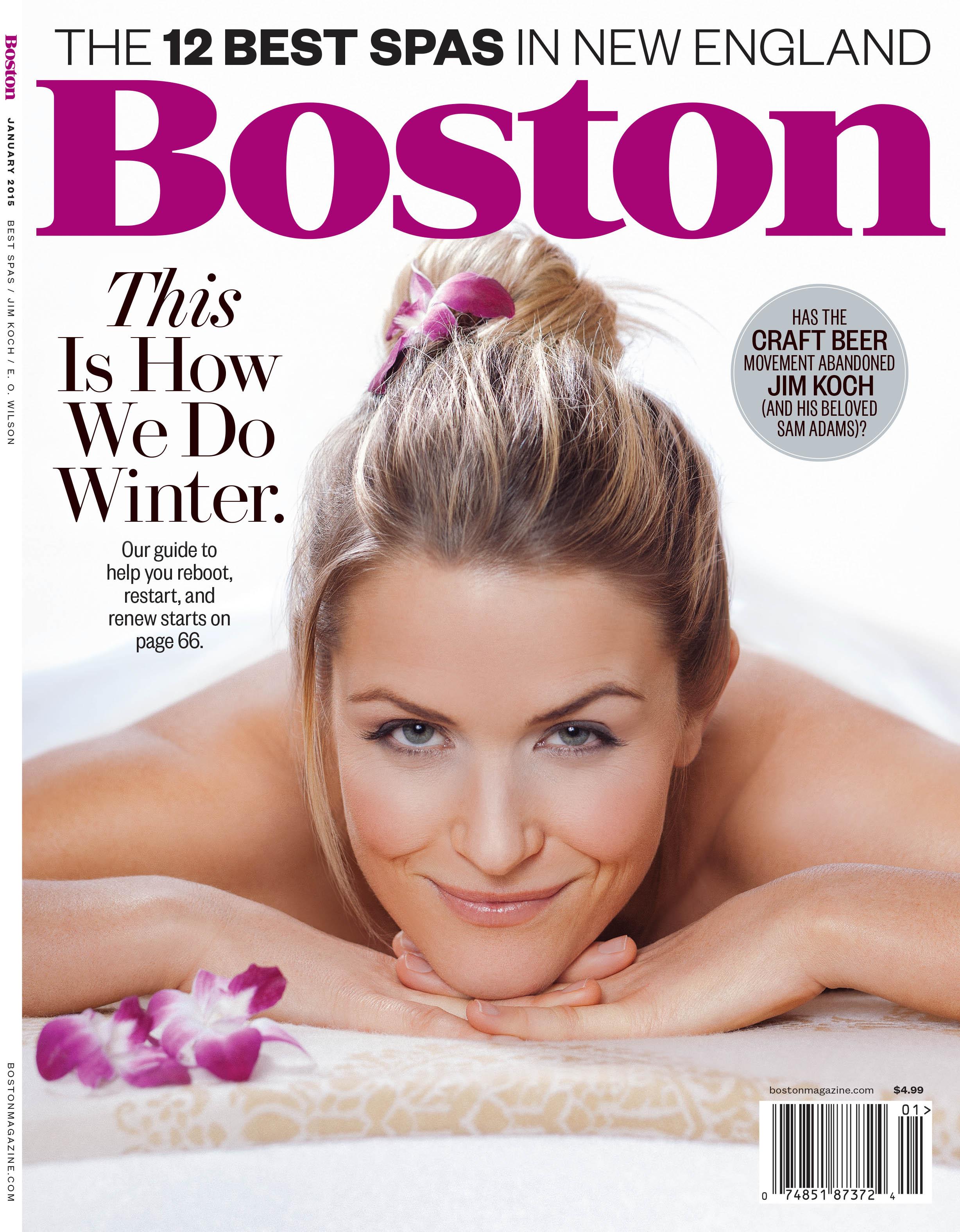 Cover of Boston Magazine by Adam DeTour
