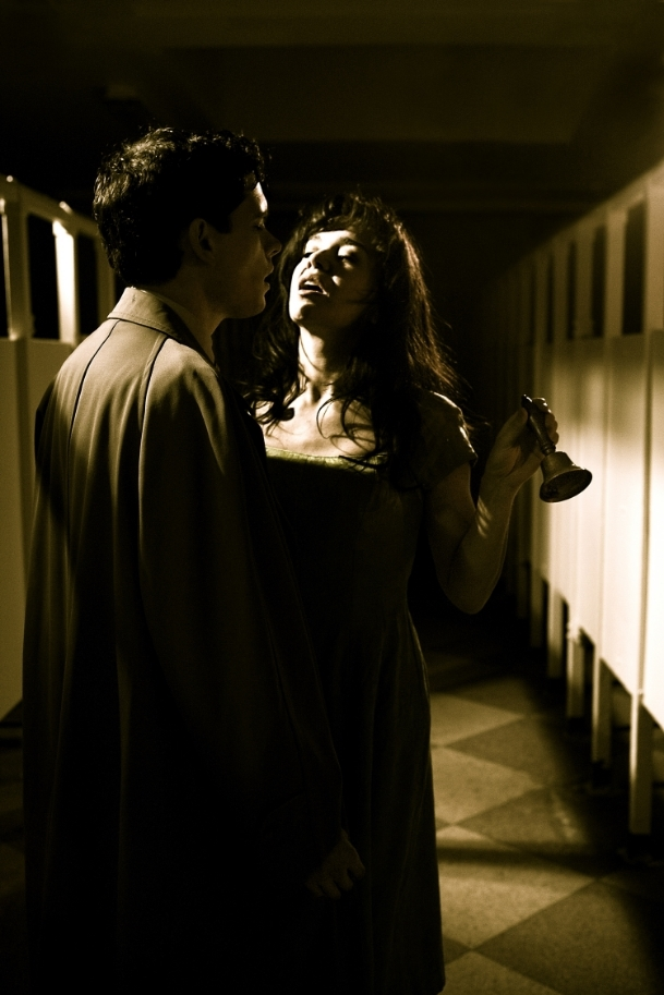 Production still Ladies & Gents. Actors Paul Nugent and Laoisa Sexton