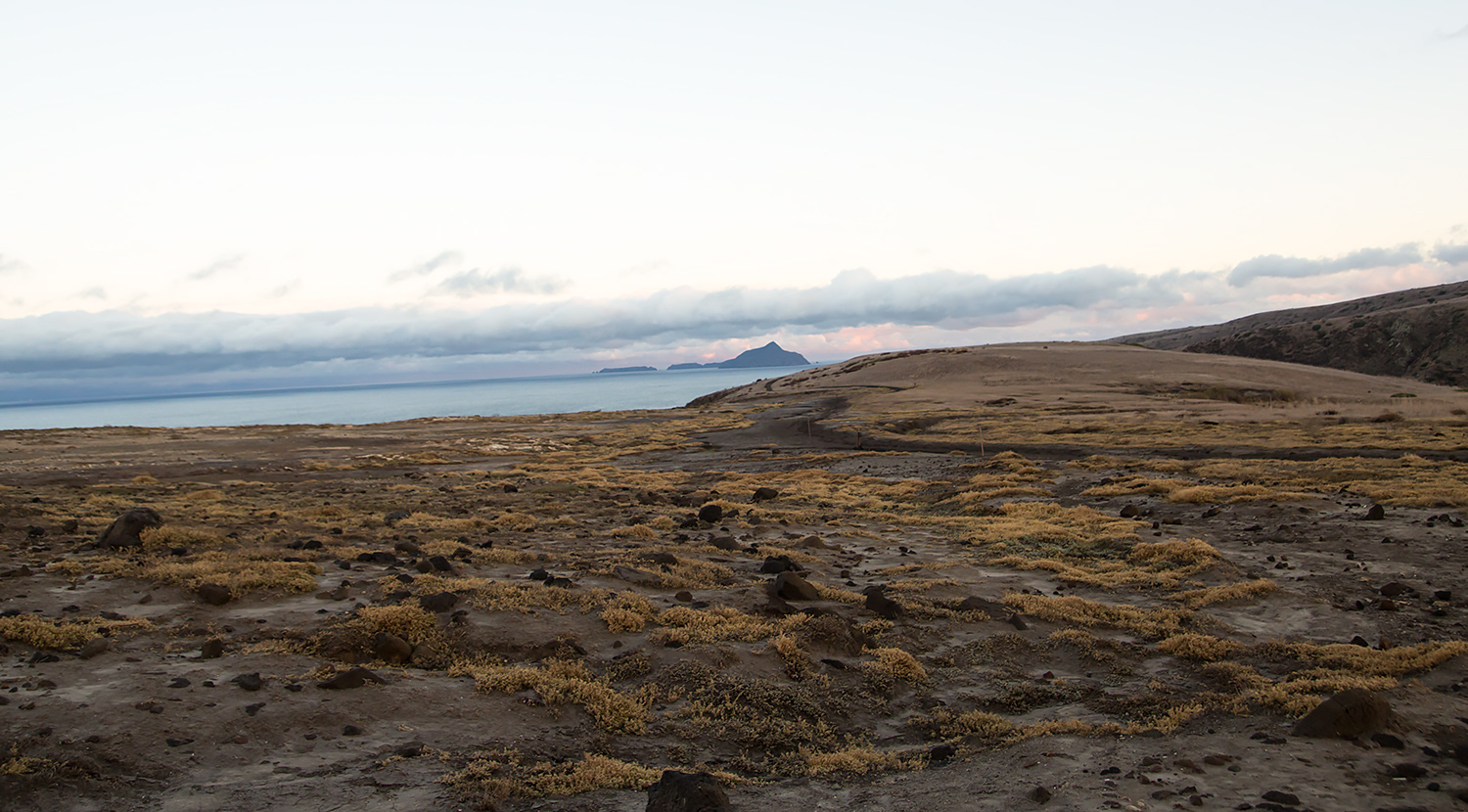 View on Anacapa Island in the distance