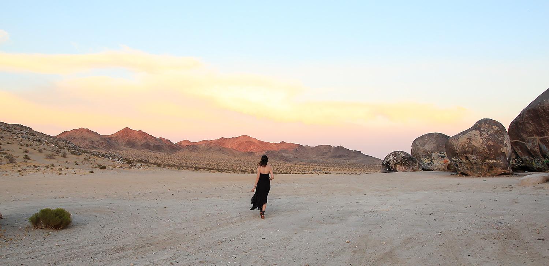 Desert sunset near Giant Rock.