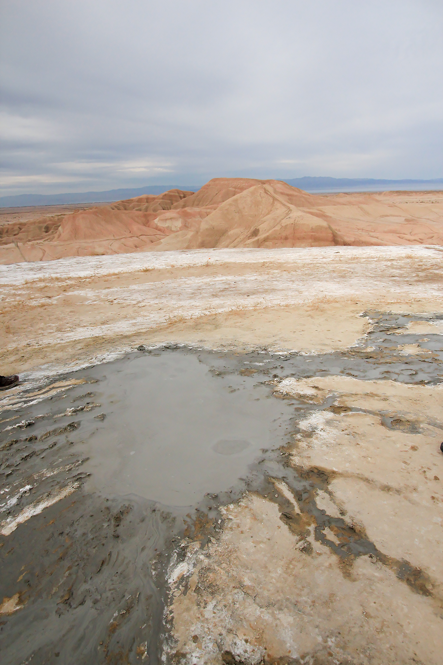 The Gas Domes: volcano-like mud pots