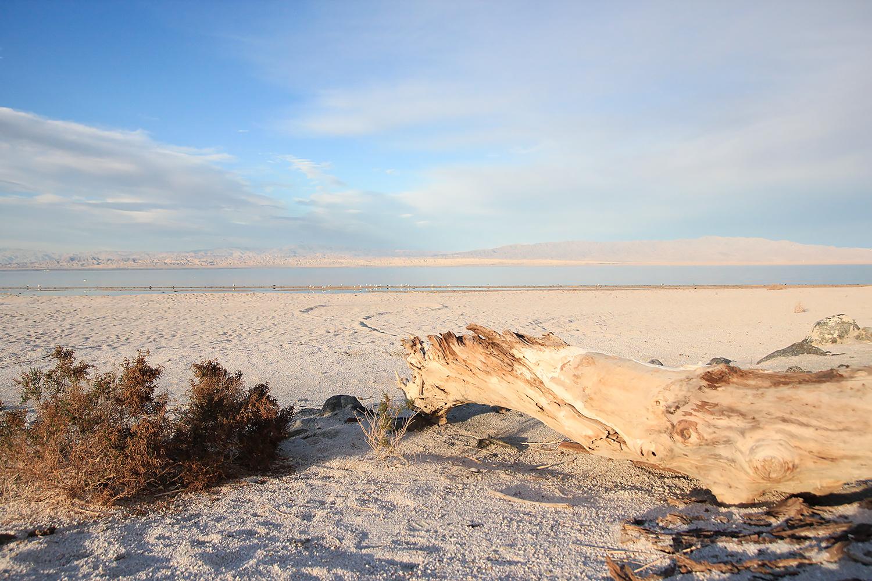It looks like a beautiful white sandy beach