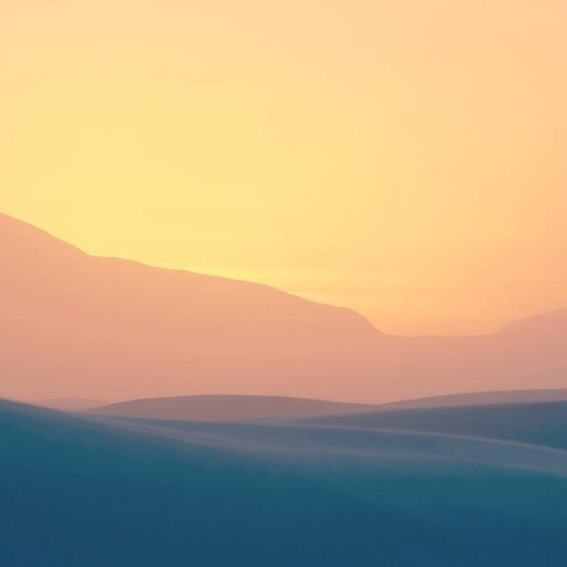 Sunset during a sandstorm : Photo by Rachel Farabaugh.
