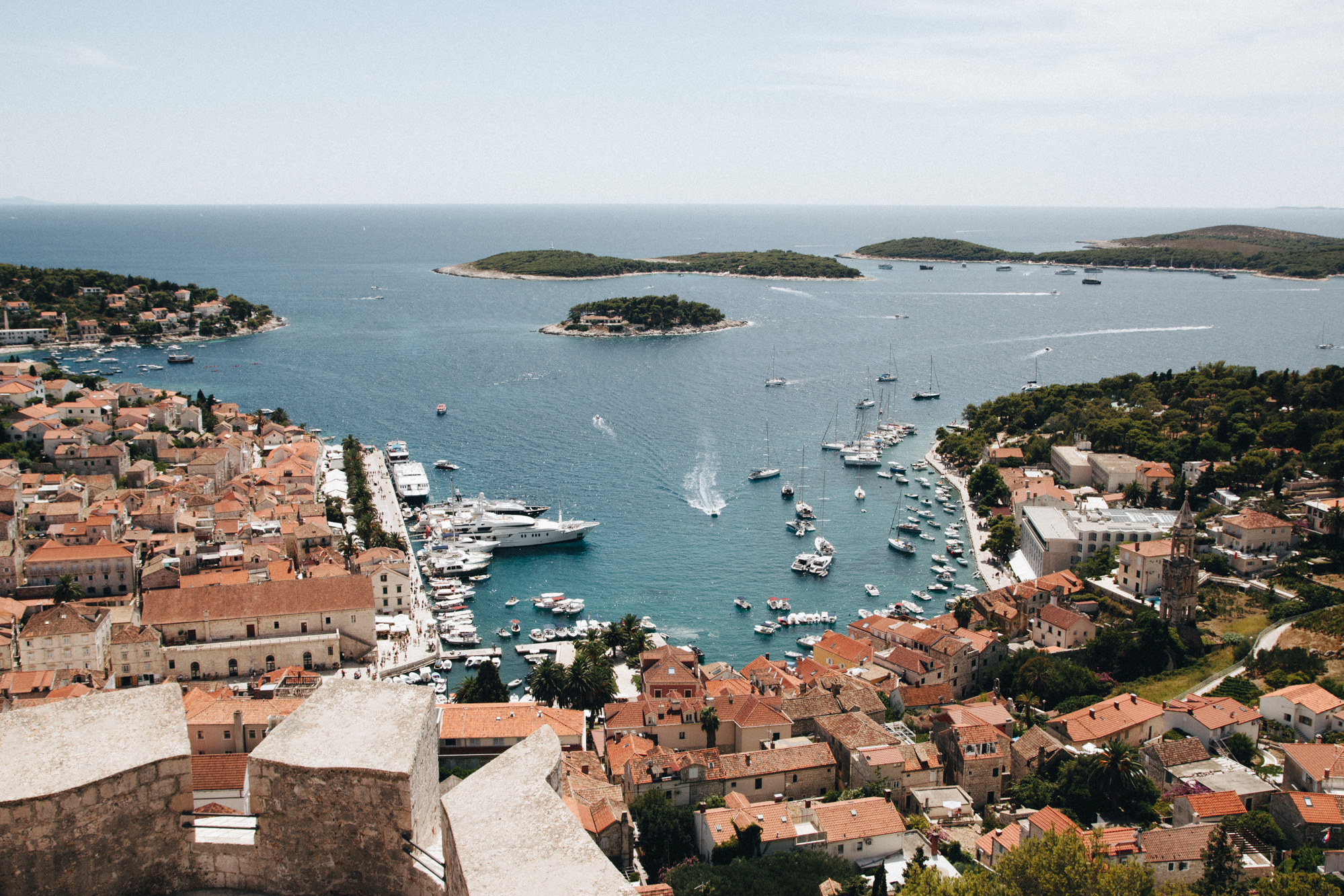 View of Hvar from Hvar Fortress