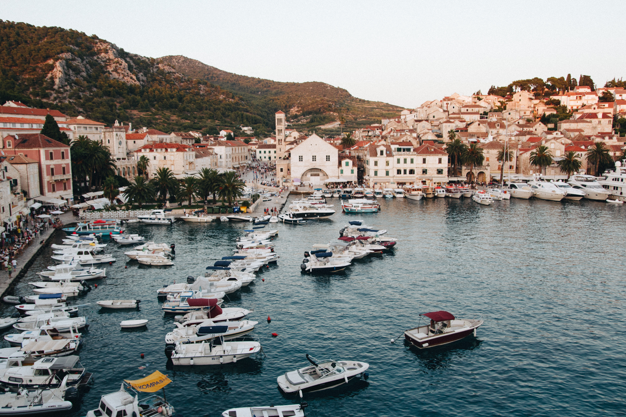 View of Hvar Town from Top Bar.