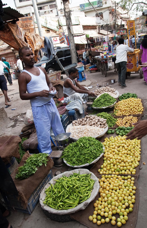 Delhi marketplace