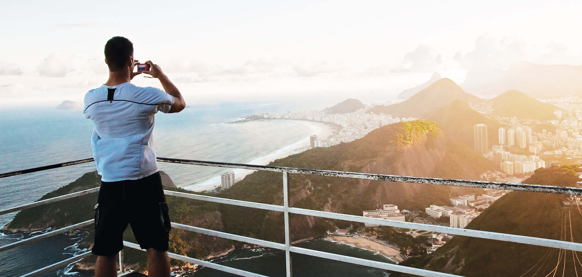 Adam enjoying the view from Sugarloaf Mountain