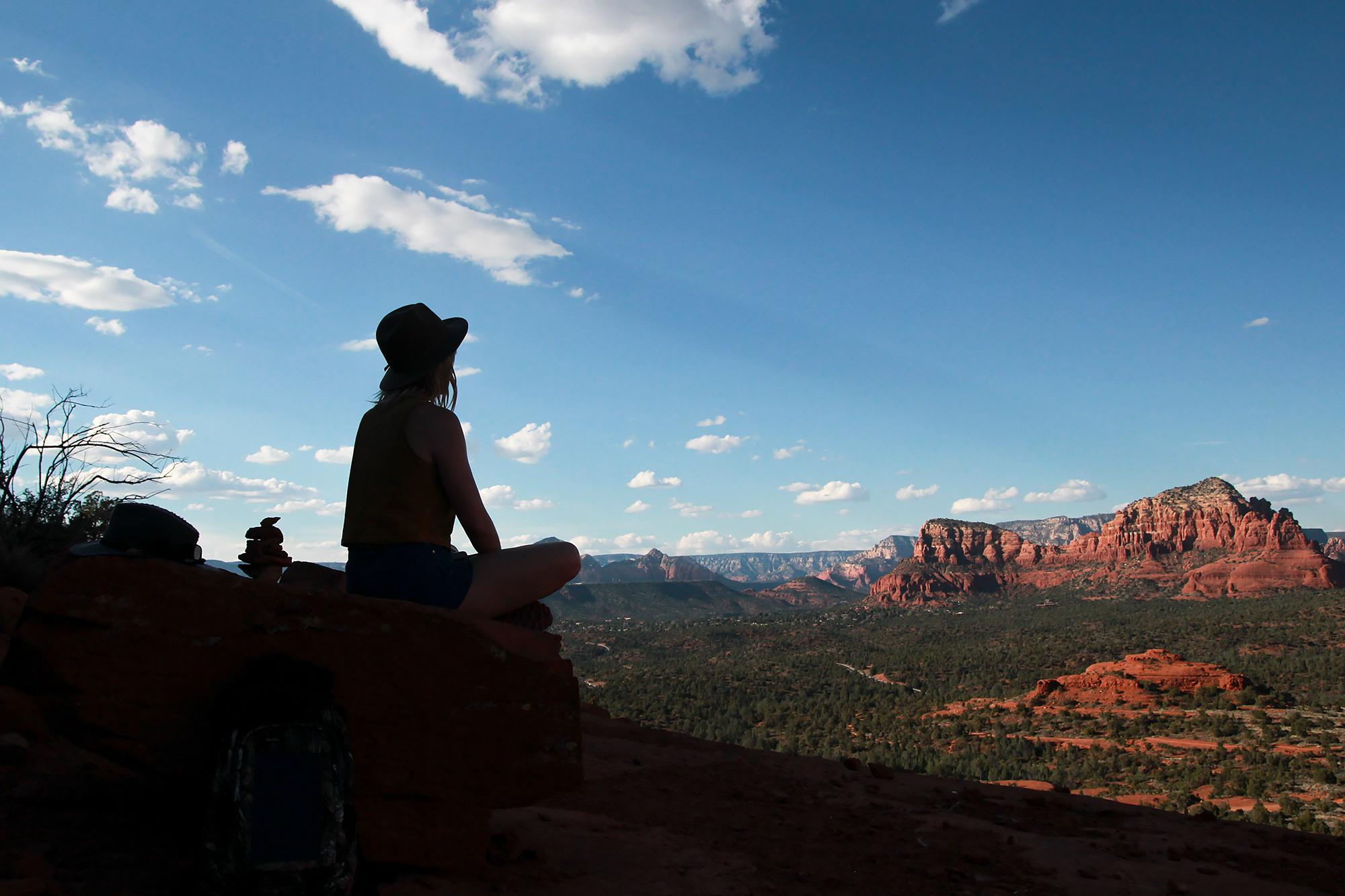 Meditating among the Red Rocks.