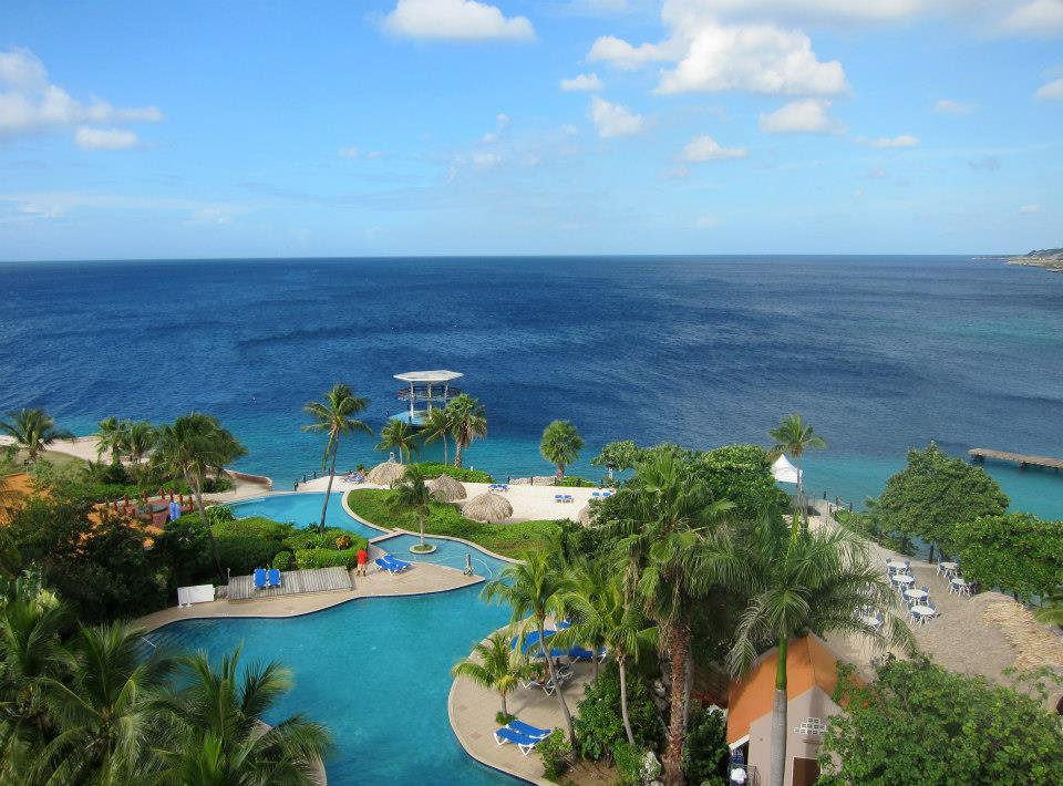 View from our room at the Hilton Curacao